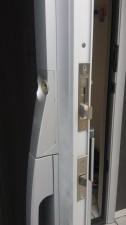 鍵を交換したドア